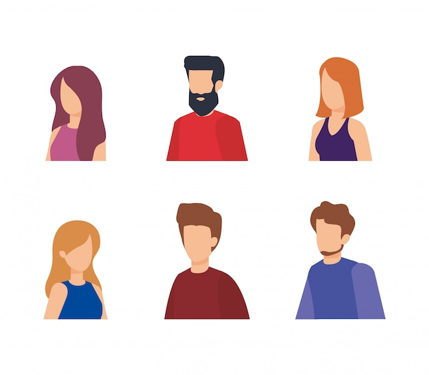 Group of people characters