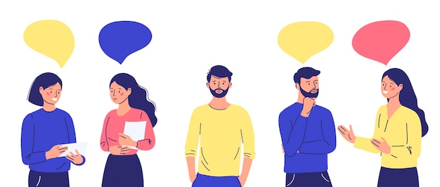 A group of people communicates ignoring an introverted outcast man