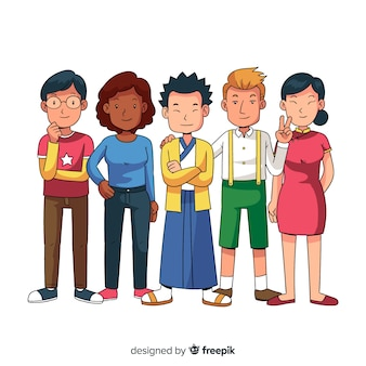 Group of people from different races