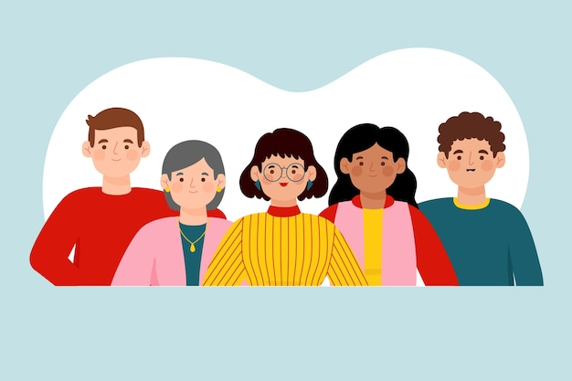 Group of people illustration concept