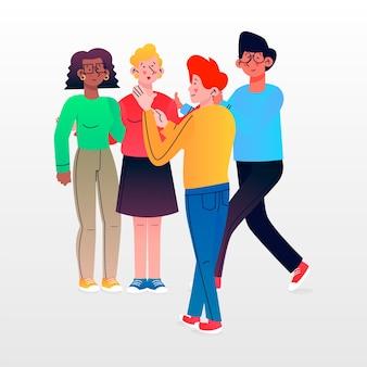 Group of people illustration set