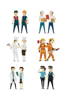 Group people professions