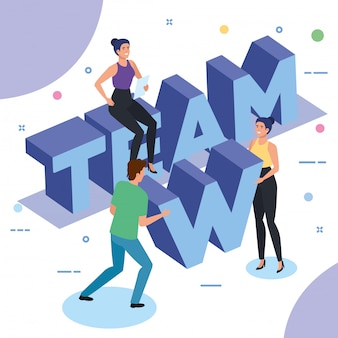 Group of people working in team