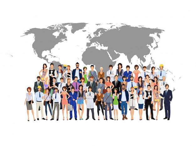 Group people on world map