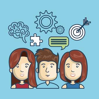 Group person idea creative design