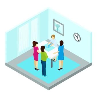 Group pregnancy training illustration