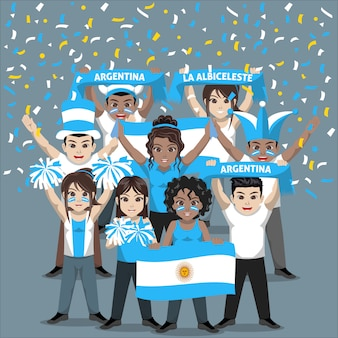 Group of supporter from argentina national football team