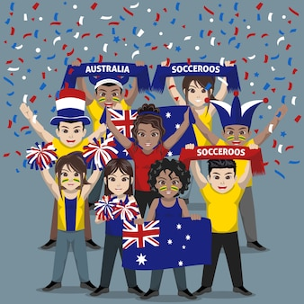 Group of supporter from australia national football team