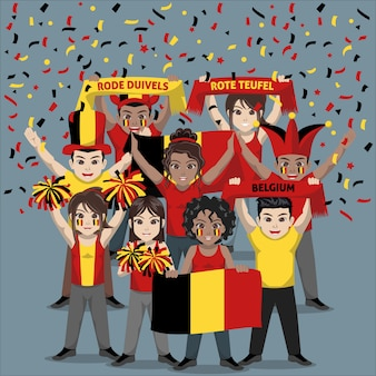 Group of supporter from belgium national football team
