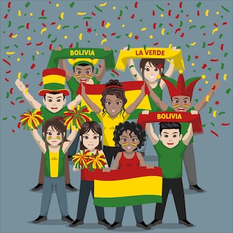 Group of supporter from bolivia national football team