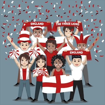 Group of supporter from england national football team