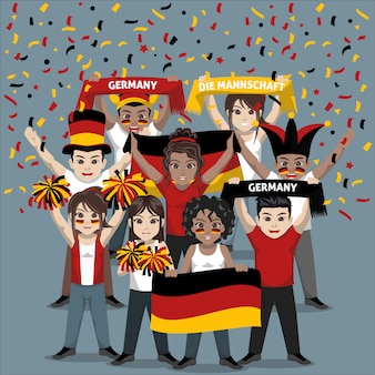 Group of supporter from germany national football team