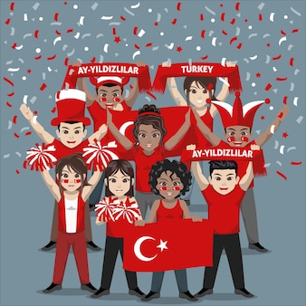 Group of supporter from turkey national football team