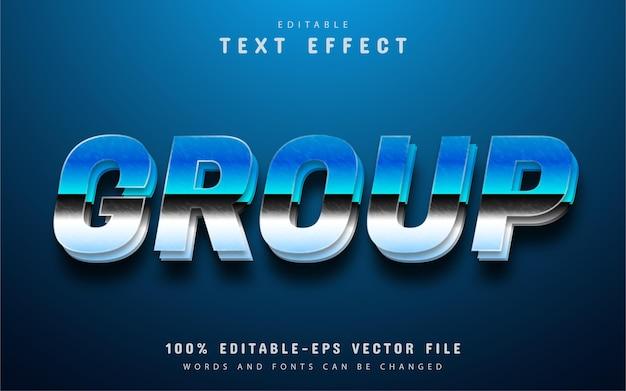 Group text, blue gradient text effect