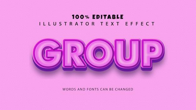 그룹 텍스트 스타일 효과, 편집 가능한 텍스트