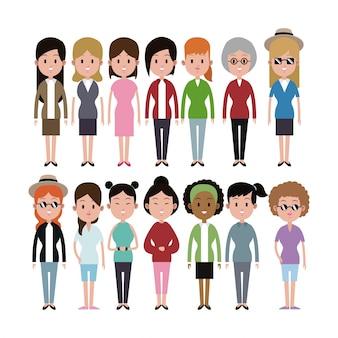 グループ女性の民族多様グループ