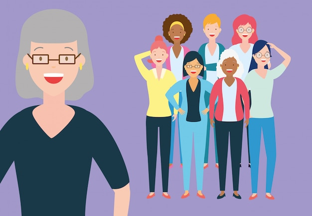 Group of women Free Vector
