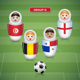 サッカーカップ2018のグループg
