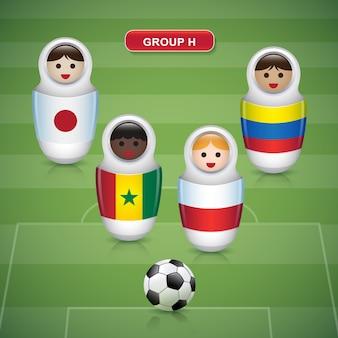 サッカーカップ2018のグループh