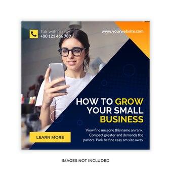 Grow business ads template