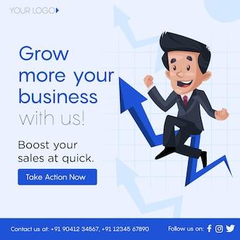 ビジネスと金融のソーシャルメディア投稿テンプレートを成長させる