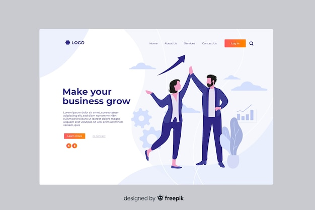 Grow business landing page