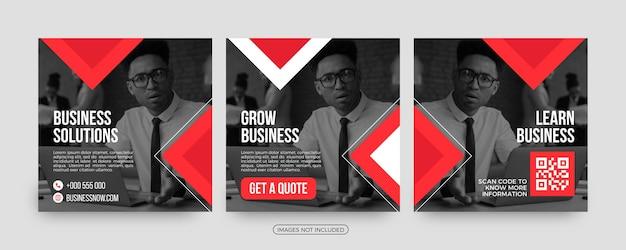 Grow business stylish social media post templates