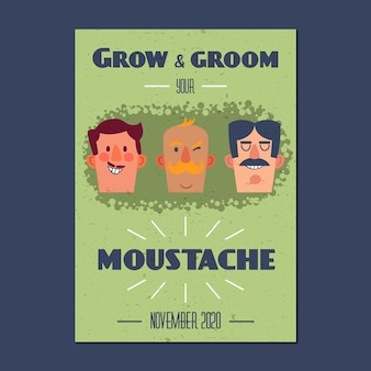 Grow and groom your moustache poster