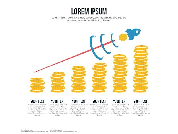 利益インフォグラフィック要素とプレゼンテーションテンプレートを増やす