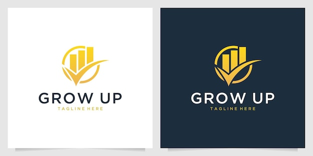 성장 투자 로고 디자인