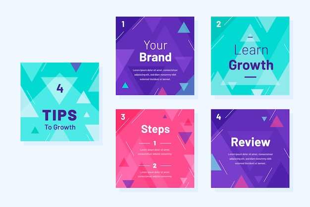 Grow your brand instagram tips template