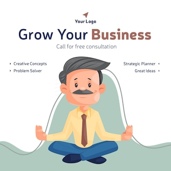 Grow your business and call for free consultation banner design