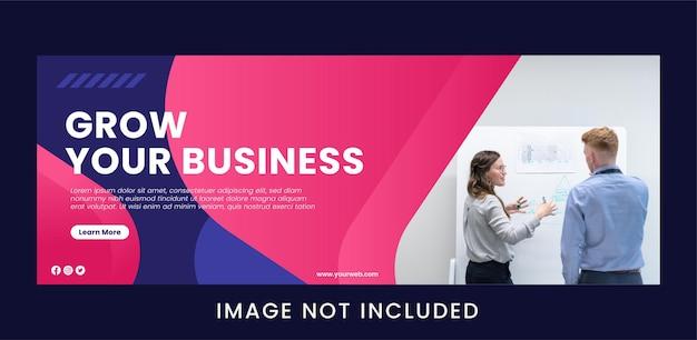 Grow your business digital marketing banner template