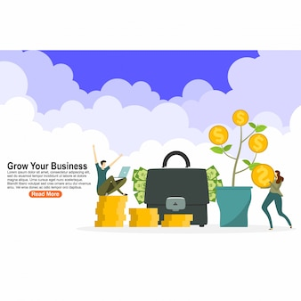 Grow your business landing page design