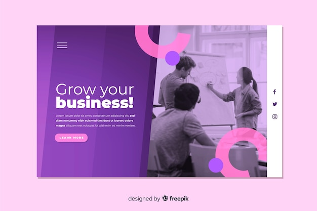 Grow your business landing page