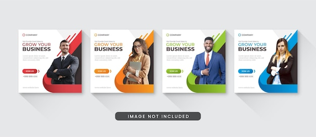 Grow your business social media instagram post template