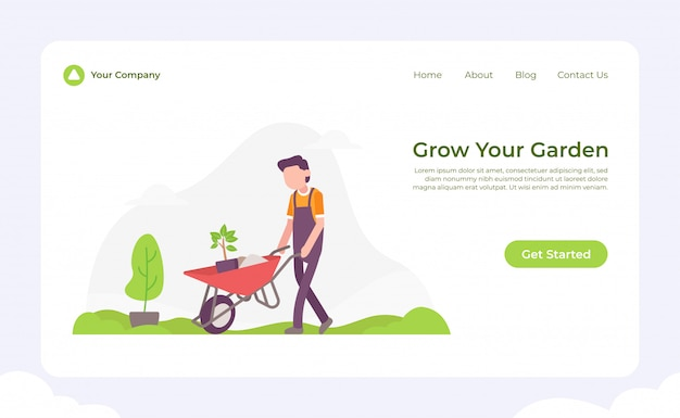 Grow your garden landing page