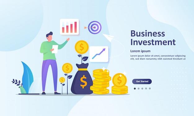 성공적인 금융 방문 페이지 템플릿 성장