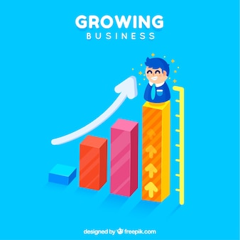 Growing business concept for landing page Free Vector