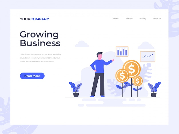 Growing business landing page