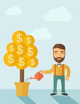Growing businessman