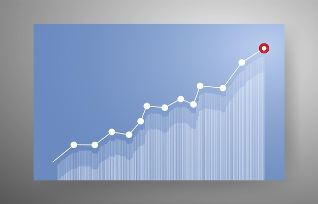 Growing graph for business concept