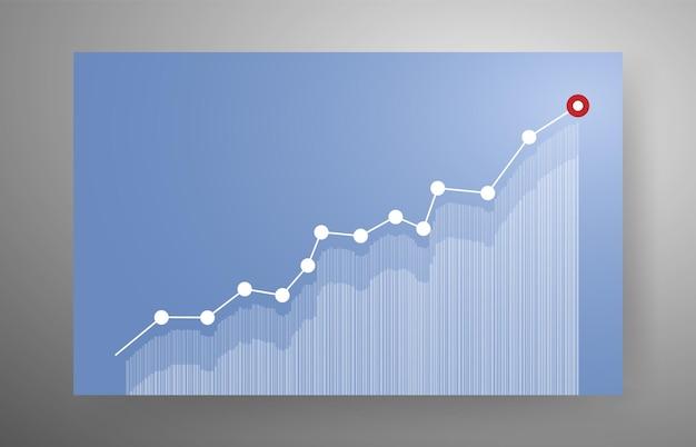Растущий график для бизнес-концепции