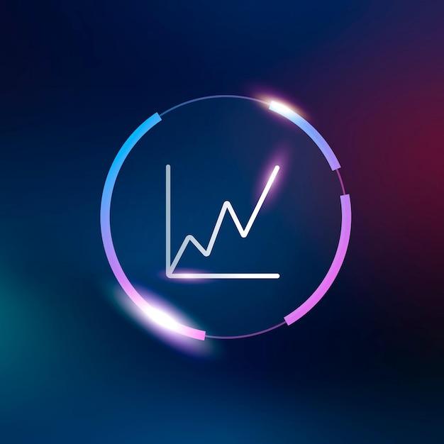 Растущий график значок символ диаграммы бизнес-аналитики