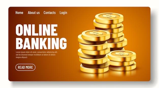 暗い背景の経済学の概念で分離された黄金のドルコインの成長するスタック