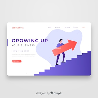 Growing up landing page template