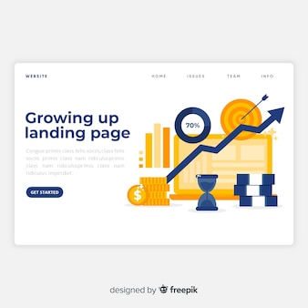 Growing up landing page