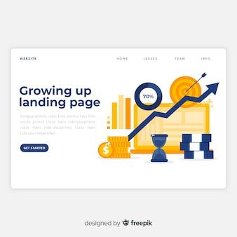 Growing up landing page