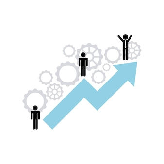 Growth business concept icon
