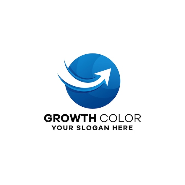 Growth business gradient logo template